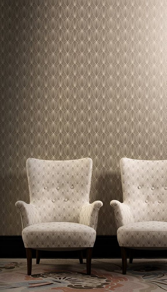 Photo of the fabric Cabaret Diamond in situ by Catherine Martin by Mokum. Use for Upholstery Heavy Duty, Accessory. Style of Geometric, Pattern