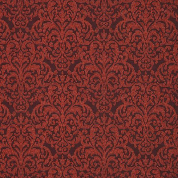 Photo of the fabric Donesk Sienna swatch by James Dunlop. Use for Upholstery Heavy Duty, Accessory. Style of Damask, Pattern