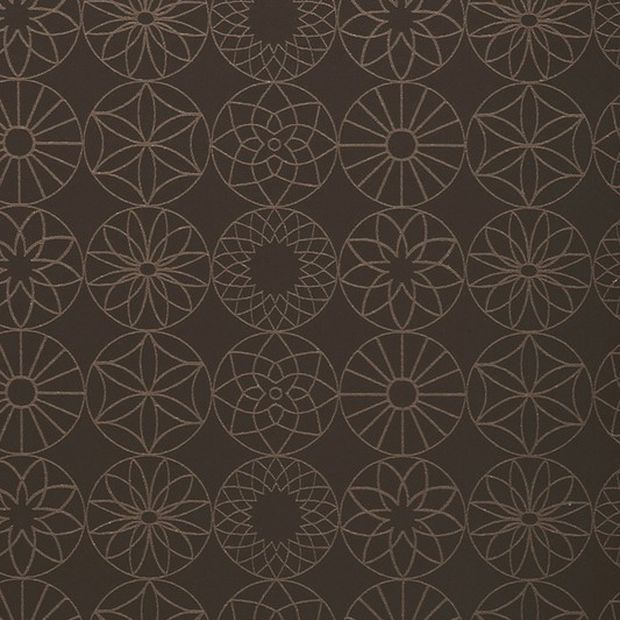Photo of the fabric Jupiter Chocolate swatch by James Dunlop. Use for Upholstery Heavy Duty, Accessory. Style of Childrens, Geometric, Pattern