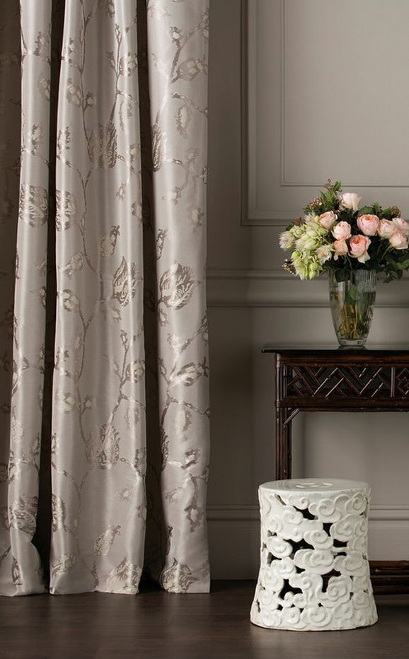 Photo of the fabric Tulip Tetouan Lacquer in situ by Mokum. Use for Curtains, Accessory. Style of Decorative, Pattern