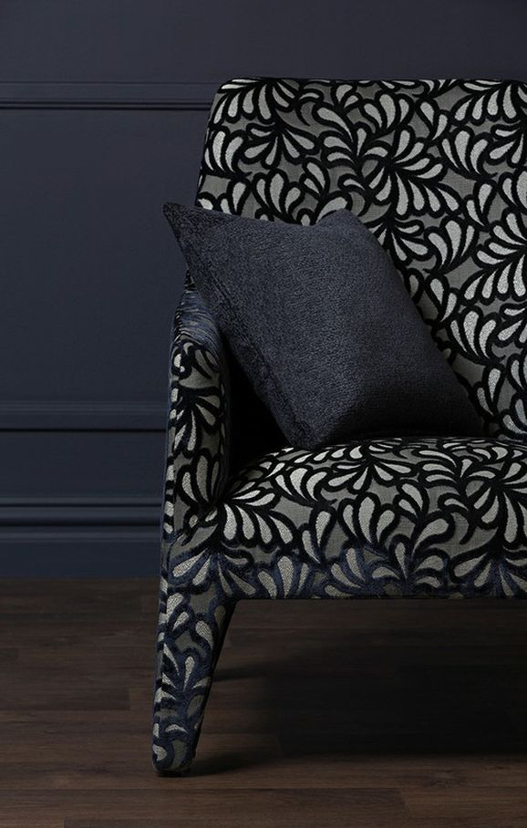 Photo of the fabric Maple Leaf Quartz in situ by Mokum. Use for Upholstery Heavy Duty, Accessory. Style of Pattern, Velvet