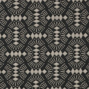 Photo of the fabric Fan Ebony swatch by Mokum. Use for Upholstery Heavy Duty, Accessory. Style of Geometric, Pattern, Texture