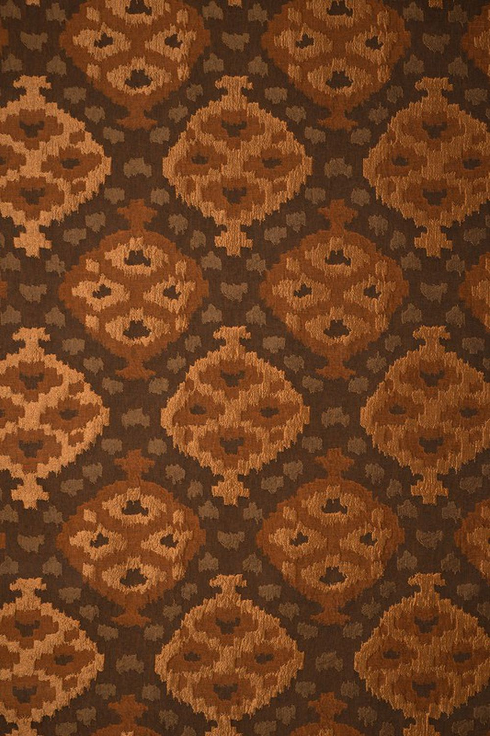 Photo of the fabric Timbuktu Copper swatch by Mokum. Use for Curtains, Accessory. Style of Abstract, Geometric, Pattern