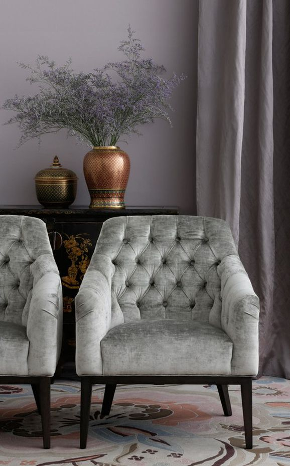Photo of the fabric Vintage Linen in situ by Mokum. Use for Upholstery Heavy Duty, Accessory. Style of Plain, Velvet
