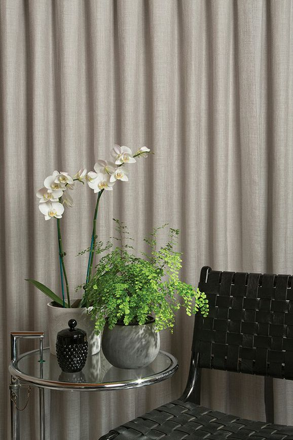 Photo of the fabric Mayfair * Concrete in situ by James Dunlop. Use for Sheer Curtains. Style of Pattern, Sheer, Stripe