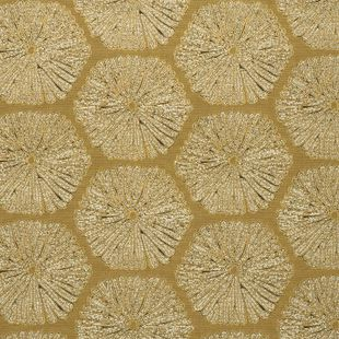Photo of the fabric Sea Urchin Gold swatch by Mokum. Use for Upholstery Medium Duty, Accessory. Style of Abstract, Pattern