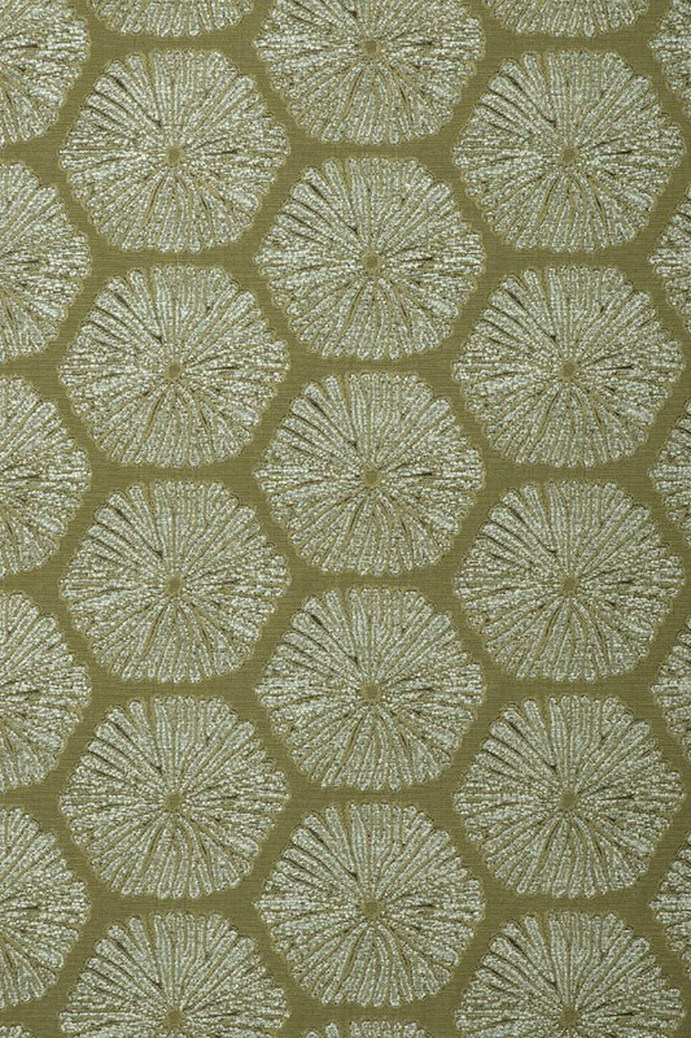 Photo of the fabric Sea Urchin Palm Leaf swatch by Mokum. Use for Upholstery Medium Duty, Accessory. Style of Abstract, Pattern
