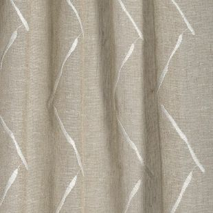 Photo of the fabric Freemans * Birch swatch by James Dunlop. Use for Drapery Sheer. Style of Embroidery, Geometric, Pattern, Sheer