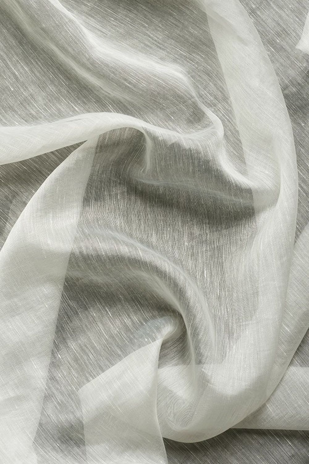 Photo of the fabric Aurora * Ice swatch by Mokum. Use for Drapery Sheer. Style of Plain, Sheer
