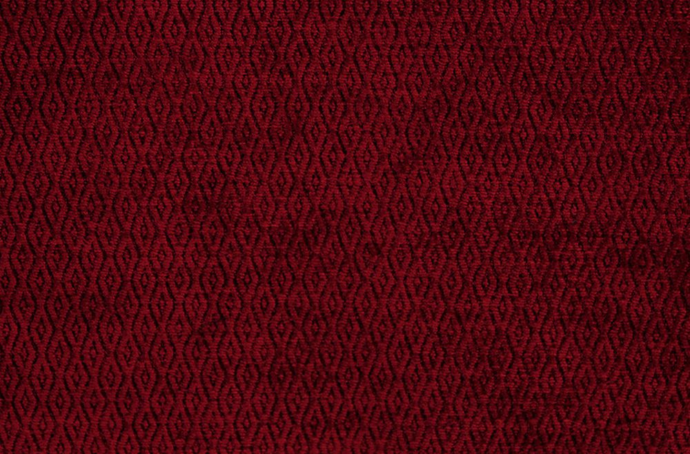 Photo of the fabric Trabzon Scarlet swatch by Pegasus. Use for Upholstery Heavy Duty, Accessory. Style of Childrens, Geometric, Plain, Velvet