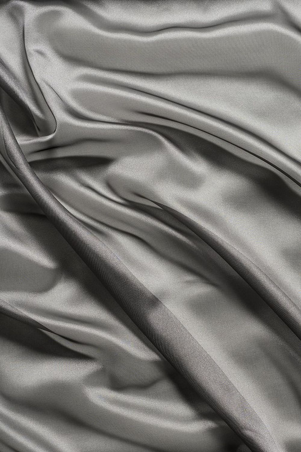 Photo of the fabric Liquidity * Zinc swatch by Mokum. Use for Drapery. Style of Plain