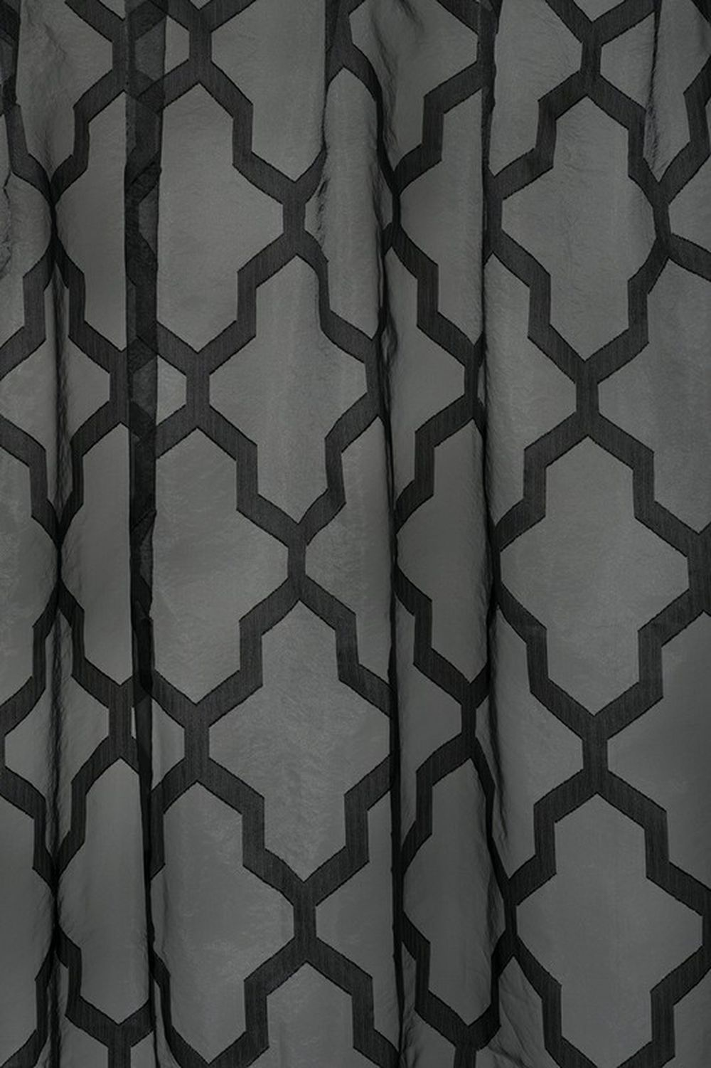 Photo of the fabric Polar * Obsidian swatch by James Dunlop. Use for Sheer Curtains. Style of Geometric, Pattern, Sheer