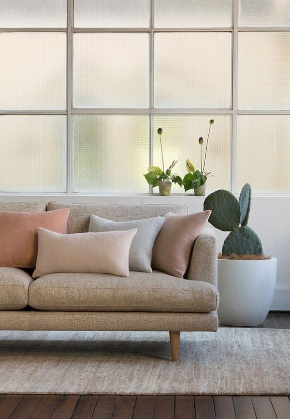 Photo of the fabric Nirvana Alabaster in situ by Mokum. Use for Upholstery Heavy Duty, Accessory. Style of Plain, Texture