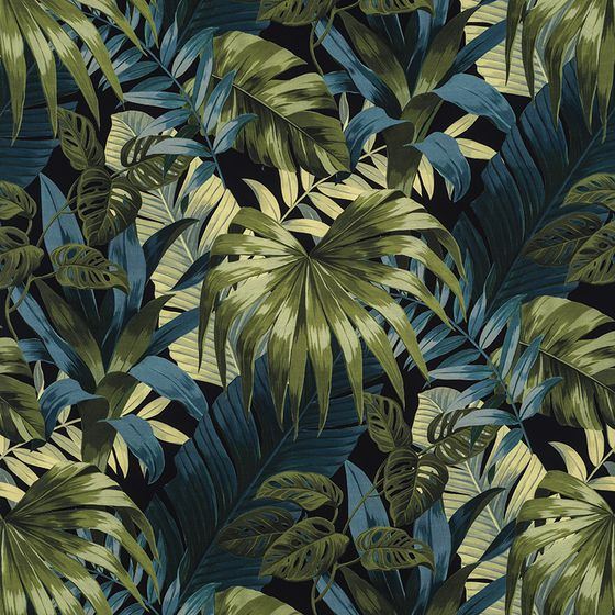 Photo of the fabric Aruba Canopy swatch by James Dunlop. Use for Curtains, Upholstery Medium Duty, Accessory. Style of Floral And Botannical, Pattern, Print
