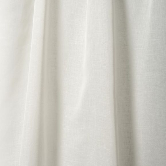 Photo of the fabric Leno * Ivory swatch by Pegasus. Use for Sheer Curtains. Style of Plain, Sheer