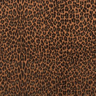 Photo of the fabric Leopardo Copper swatch by Catherine Martin by Mokum. Use for Upholstery Medium Duty, Accessory. Style of Abstract, Pattern