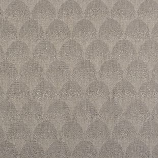 Photo of the fabric Palais * Ash swatch by Catherine Martin by Mokum. Use for Drapery. Style of Decorative, Geometric, Pattern