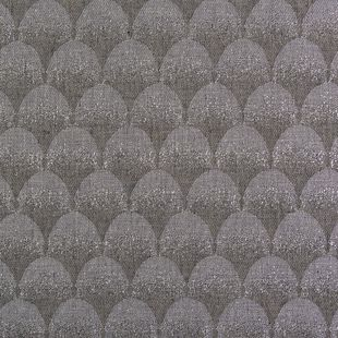 Photo of the fabric Palais * Pewter swatch by Catherine Martin by Mokum. Use for Drapery. Style of Decorative, Geometric, Pattern