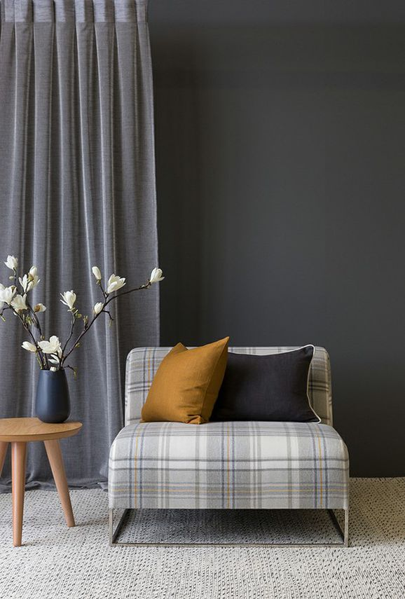 Photo of the fabric Sencha * Chino in situ by James Dunlop Essentials. Use for Drapery Sheer. Style of Plain, Sheer