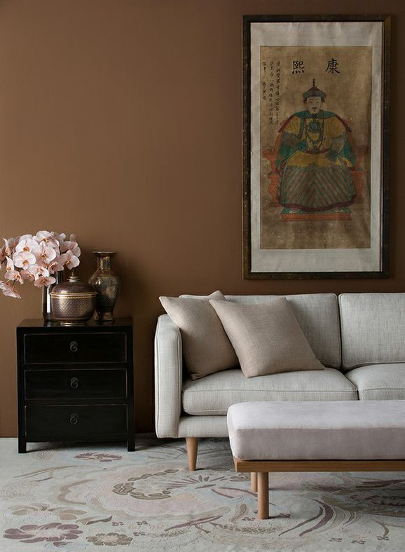Photo of the fabric Ficus Blush in situ by Mokum. Use for Upholstery Heavy Duty, Accessory. Style of Plain, Texture
