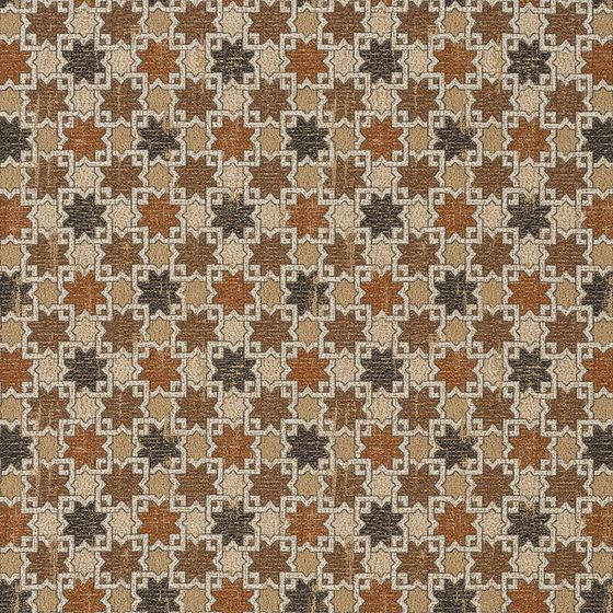 Photo of the fabric Hammam Copper swatch by Catherine Martin by Mokum. Use for Upholstery Medium Duty, Accessory. Style of Geometric, Pattern