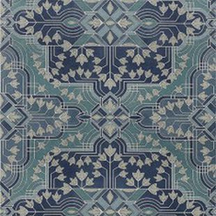 Photo of the fabric Majorelle Wallpaper Teal swatch by Catherine Martin by Mokum. Use for Wall Covering. Style of Decorative, Geometric, Pattern, Print