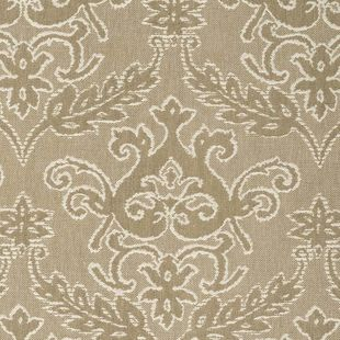 Photo of the fabric Notting Hill Latte swatch by James Dunlop. Use for Drapery, Accessory. Style of Damask, Decorative, Pattern
