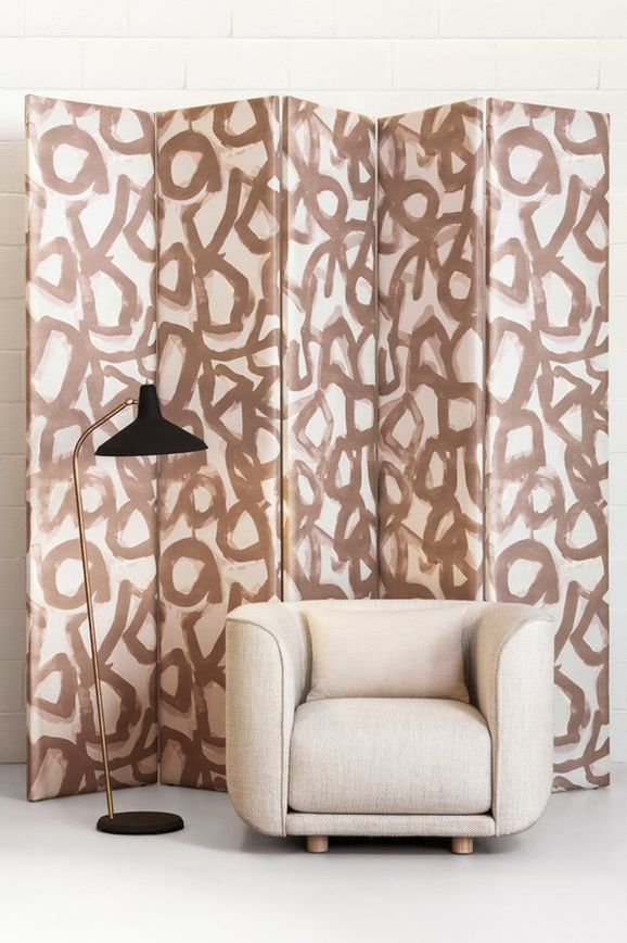 Photo of the fabric Canvas Nude in situ by Mokum. Use for Upholstery Heavy Duty, Accessory. Style of Abstract, Geometric, Pattern