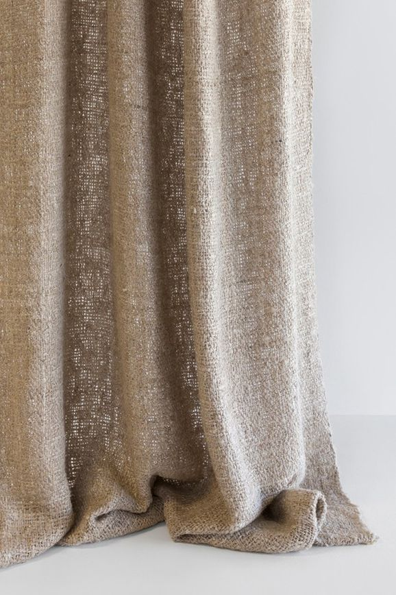 Photo of the fabric Handloom Opal in situ by Mokum. Use for Curtains, Accessory. Style of Decorative, Plain
