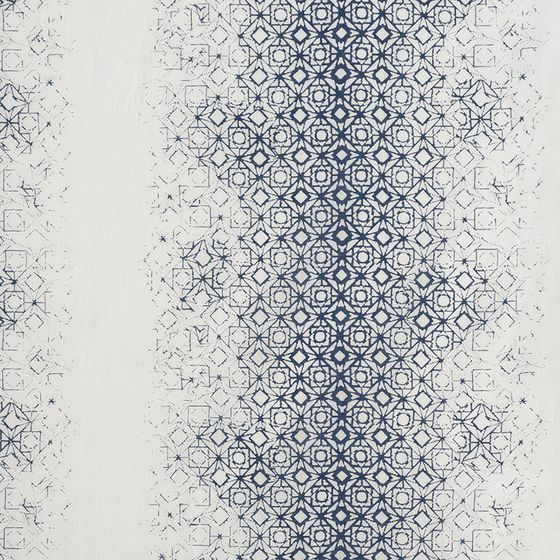 Photo of the fabric Arctic* Delft swatch by James Dunlop. Use for Curtains. Style of Decorative, Pattern, Print