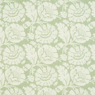 Photo of the fabric Chelsea Sage swatch by James Dunlop. Use for Drapery, Upholstery Medium Duty, Accessory. Style of Decorative, Pattern, Print