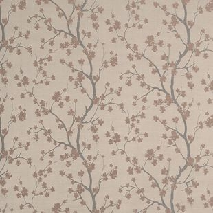 Photo of the fabric Cherry Blossom Cameo swatch by James Dunlop. Use for Drapery, Upholstery Light Duty, Accessory. Style of Decorative, Pattern