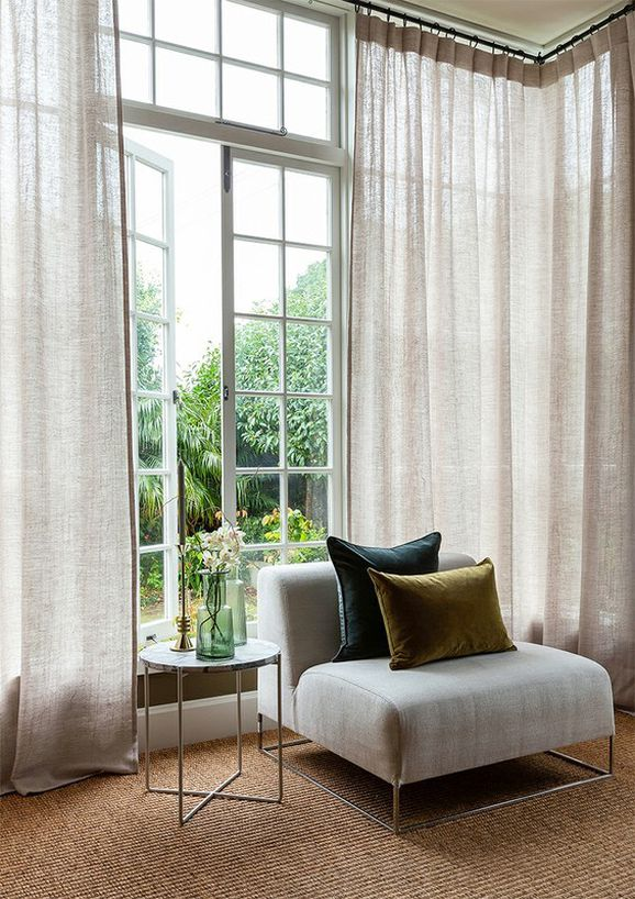 Photo of the fabric Illusion * Frost in situ by James Dunlop. Use for Sheer Curtains. Style of Plain, Texture