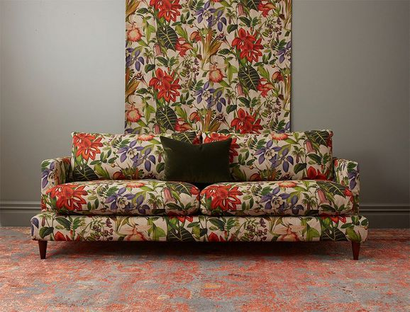Photo of the fabric Twining Botanical in situ by James Dunlop. Use for Drapery, Upholstery Medium Duty, Accessory. Style of Decorative, Pattern, Print