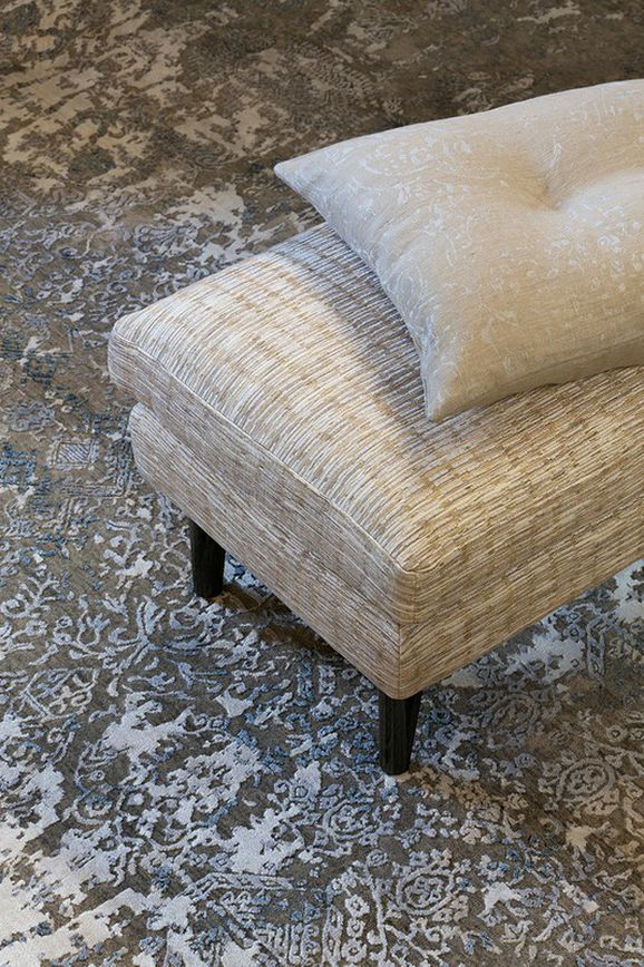 Photo of the fabric Raku Oyster in situ by Mokum. Use for Upholstery Medium Duty, Accessory. Style of Plain, Texture