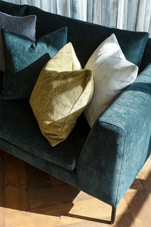 Photo of the fabric Contexture Sulphur in situ by James Dunlop. Use for Upholstery Heavy Duty, Accessory. Style of Geometric, Plain, Texture