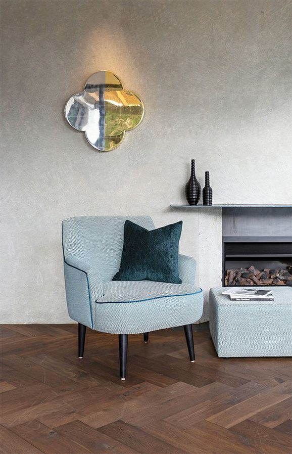 Photo of the fabric Effect Smoke in situ by James Dunlop. Use for Upholstery Heavy Duty, Accessory. Style of Geometric, Pattern
