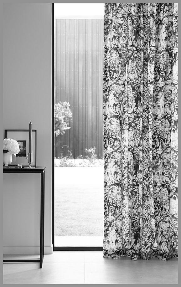 Photo of the fabric Verso Shadow in situ by James Dunlop. Use for Curtains, Accessory. Style of Decorative, Pattern, Print