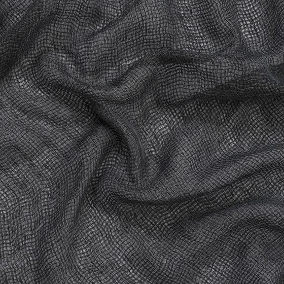 Photo of the fabric Kensho* Basalt swatch by Mokum. Use for Sheer Curtains. Style of Plain, Sheer