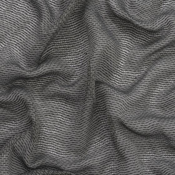 Photo of the fabric Kensho* Charcoal swatch by Mokum. Use for Sheer Curtains. Style of Plain, Sheer