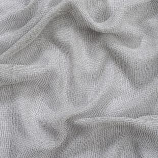 Photo of the fabric Kensho* Silver swatch by Mokum. Use for Sheer Curtains. Style of Plain, Sheer