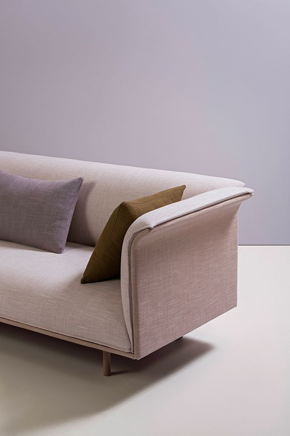 Photo of the fabric Allium Driftwood in situ by Mokum. Use for Upholstery Heavy Duty, Accessory. Style of Plain, Texture