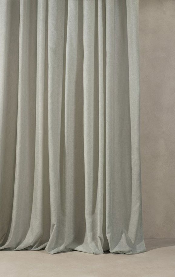 Photo of the fabric Tempest* Storm in situ by Mokum. Use for Drapery. Style of Plain