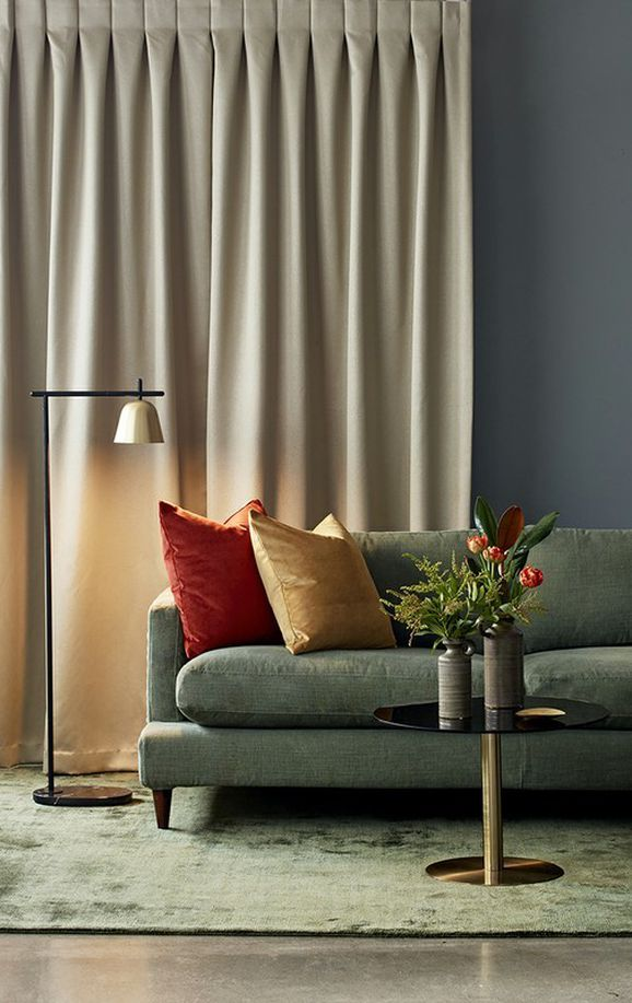 Photo of the fabric Mason FR Diamond in situ by James Dunlop. Use for Curtains. Style of Decorative, Dim Out, Pattern