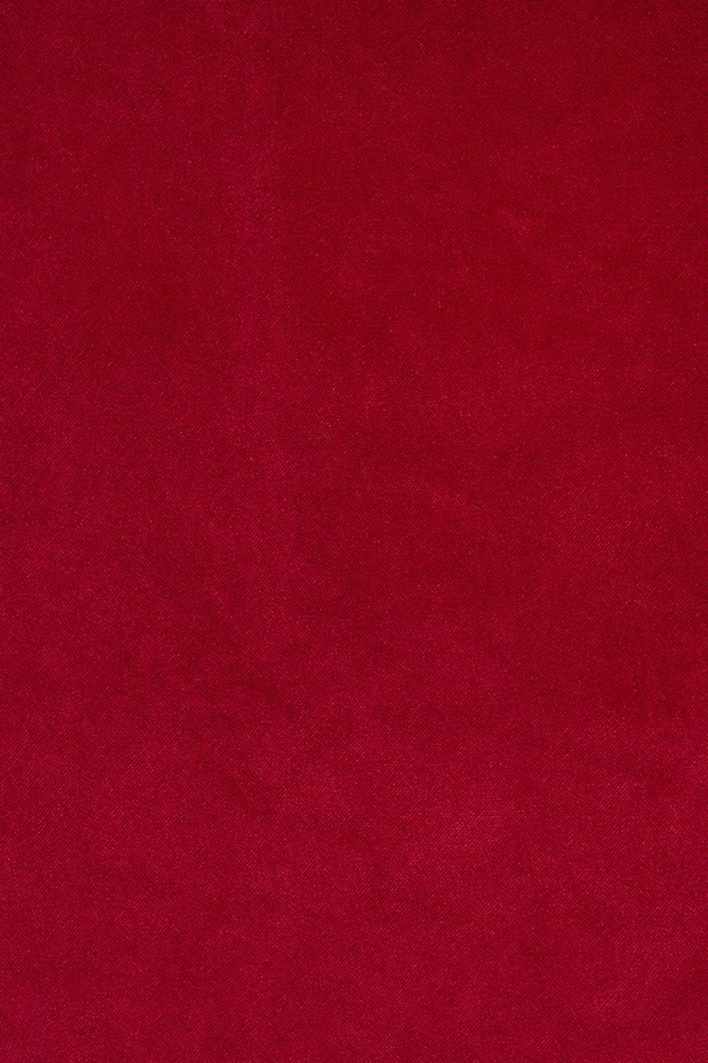 Photo of the fabric Palacio FR Ruby swatch by James Dunlop. Use for Curtains, Upholstery Heavy Duty, Accessory. Style of Plain, Velvet
