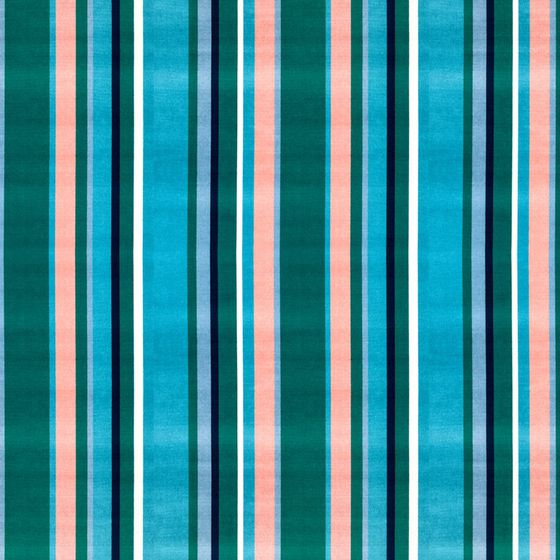 Photo of the fabric South Beach Stripe Aqua swatch by Mokum. Use for Upholstery Heavy Duty, Accessory. Style of Pattern, Stripe, Velvet