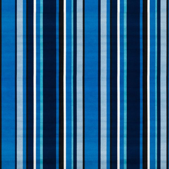 Photo of the fabric South Beach Stripe Sapphire swatch by Mokum. Use for Upholstery Heavy Duty, Accessory. Style of Pattern, Stripe, Velvet