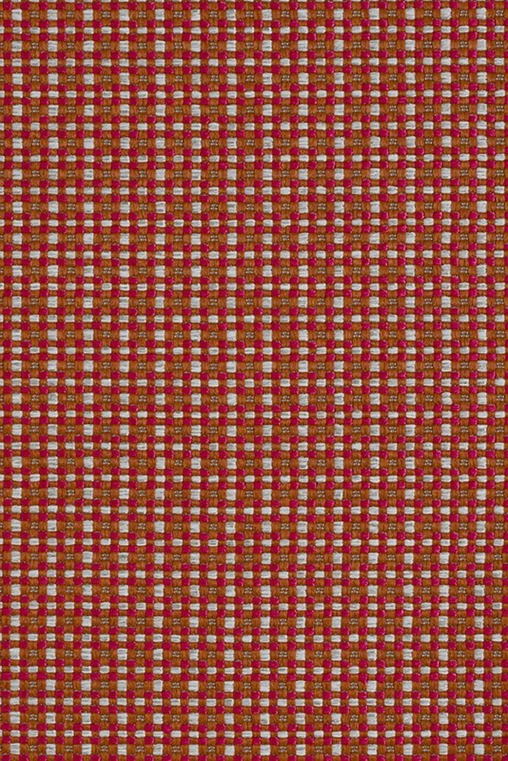 Photo of the fabric Esplanade Red Coral swatch by Mokum. Use for Upholstery Heavy Duty, Accessory. Style of Plain, Texture