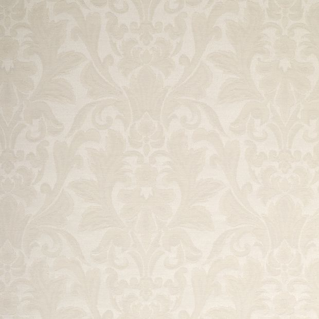 Photo of the fabric Michican Ivory swatch by James Dunlop. Use for Curtains, Upholstery Light Duty, Accessory, Top of Bed. Style of Damask, Pattern