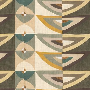 Photo of the fabric Karakum YP14001(20001) swatch by Designs Of The Time. Use for Drapery, Upholstery Light Duty, Accessory, Top of Bed. Style of Geometric, Pattern